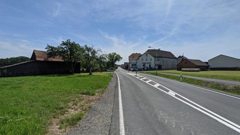 Die B47 verläuft mitten durch Boxbrunn.