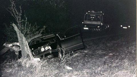 Das verunglückte Auto von Adem Bozkurt im April 1997