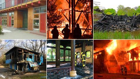 Bilder der sechs Brände in Frankfurt.