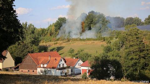 Böschungsbrand an der Bahnstrecke Fulda-Schlüchtern