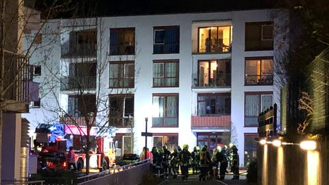 Feuerwehreinsatz an der Wohnanlage