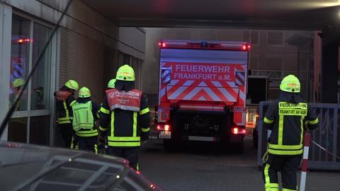Feuerwehreinsatz an der Arbeitsagentur