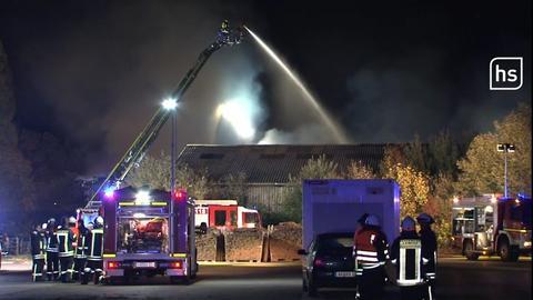 Brand in einem Sägewerk in Bad Arolsen