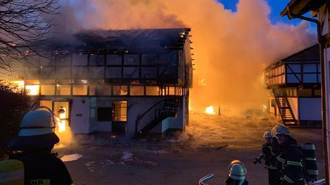 Brand auf Gestüt Erlenhof in Bad Homburg