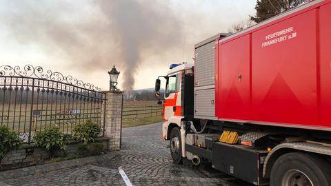 Brand im Gestüt Erlehof in Bad Homburg