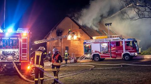 Brennendes Wohnhaus in Bad Schwalbach