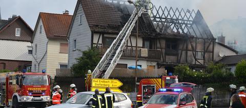 Ein Wohnhaus in Breidenbach ist abgebrannt