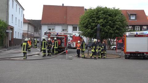 Feuerwehrleute am Einsatzort