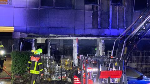 Hochhausbrand im Frankfurter Nordend