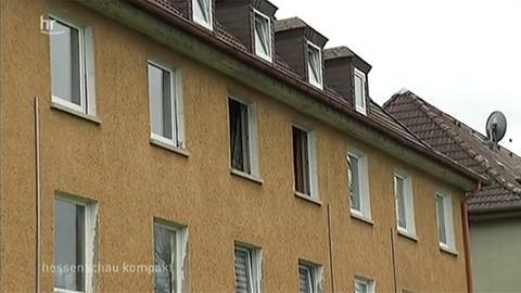 Die ausgebrannte Wohnung des Toten in Gießen.