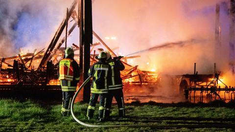 Scheunenbrand in Großenlüder