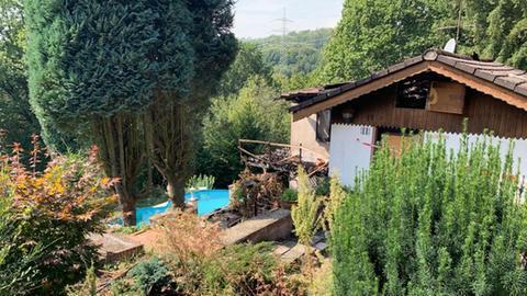 Haus in Gründau-Breitenborn, wo es gebrannt hat