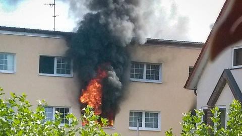 Hotelbrand im südhessischen Münster
