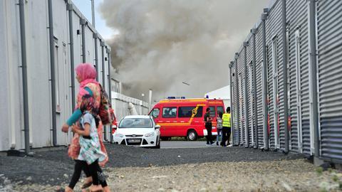 Kassel Calden Brand Flüchtlinge