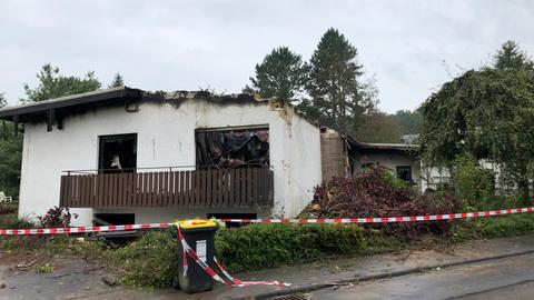 Ausgebranntes Wohnhaus in Linden (Gießen)