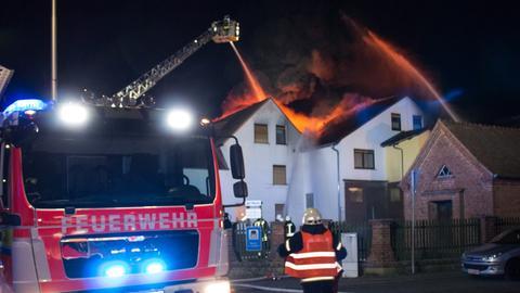Brennendes Anwesen in Nidderau