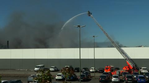Brand in Recycling-Firma in Offenbach