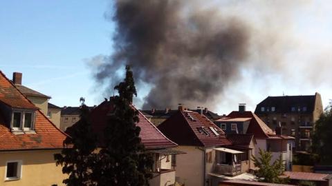 Dicke Rauchschwaden in Offenbach