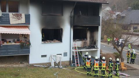 In diesem Haus mit sechs Wohnungen in Sinn hat es am Mittwoch gebrannt