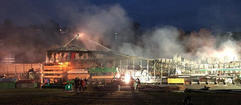 Brand in einem Holzbetrieb in Steinau an der Straße