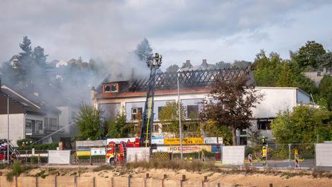 Brand einer Turnhalle in Idstein