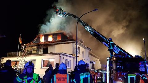 Wohnhausbrand in Waldeck