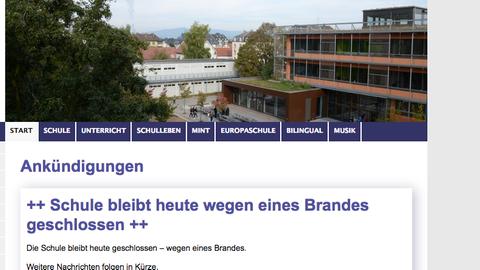 Screenshot von der Homepage Ziehenschule in Frankfurt