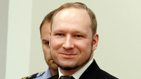 Anders Behring Breivik 2012 in Oslo im Gerichtssaal