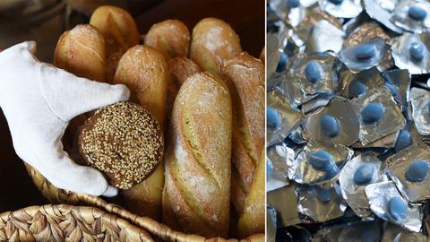 Bld-Kombo Brot und Potenzpillen