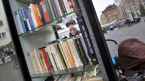 Bücherschrank in Frankfurt