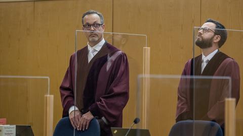 Die Anklage im Lübckeprozess: Oberstaatsanwalt Dieter Killmer (links) und Staatsanwalt Daniel Otto.