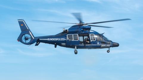 Ein Hubschrauber der Bundespolizei