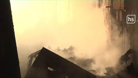 Brand in altem Bunker mit Pyrotechnik bei Fritzlar
