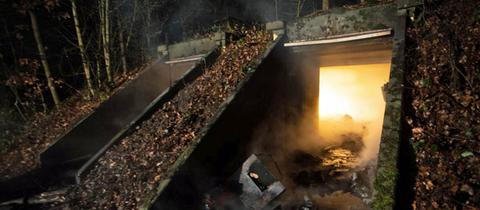 Brand in ehemaligem Bundeswehrbunker
