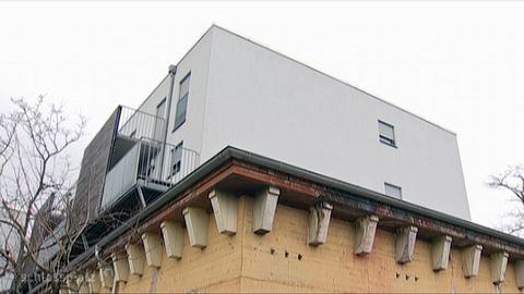 Wohnhäuser auf Bunker in Frankfurt-Griesheim