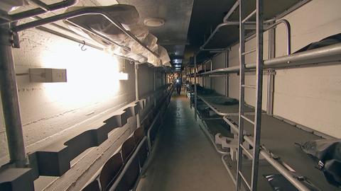 Dunkler Gang in Bunker in Kassel