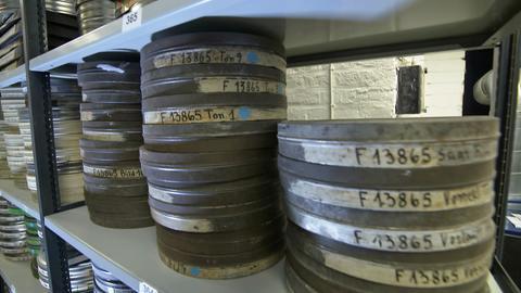 Filmrollen lagern in Bunker in Wiesbaden