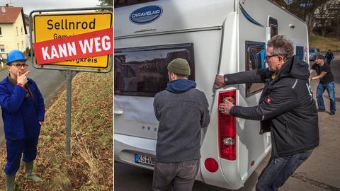 """Daniel Mauke fragt sich: """"Kann das weg"""" - Dreharbeiten in Sellnrod"""