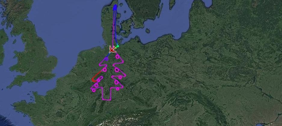 Flightradar24 weihnachtsbaum