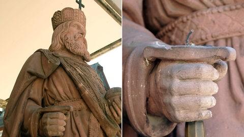 Denkmal Karl der Große Schwert geklaut