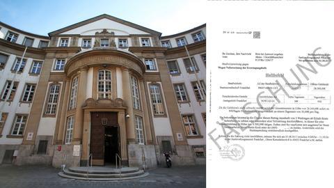 Das Amtsgericht Frankfurt und ein gefälschter Haftbefehl.