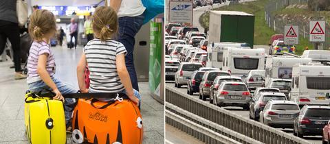 Wartezeiten am Flughafen, Stau auf den Autobahnen: Ferienbeginn in Hessen.