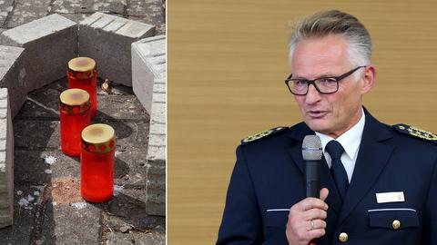 Kerzen und Polizeipräsident Voß