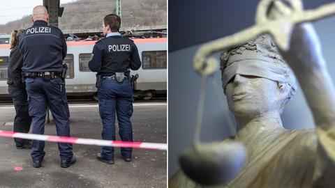 Collage Justitia Polizistenmord