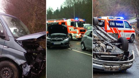 Collage: Schwere Unfälle