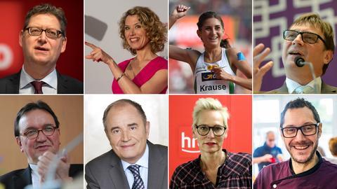Collage: Die Vorsätze der hessischen Promis für 2018