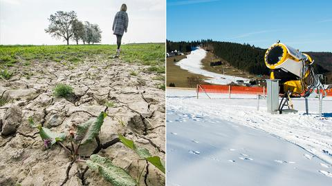 Klimawandel Schneekanone und Trockenheit