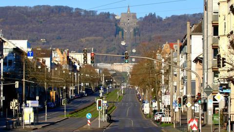 Leere Straßen in Kassel