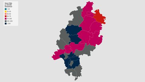 Karte der Inzidenzen (Prognose)