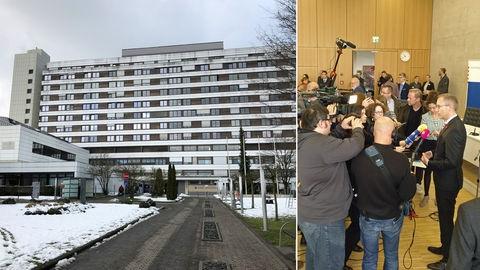 Klinikum Wetzlar, Journalisten befragen Gesundheitsminister Klose.